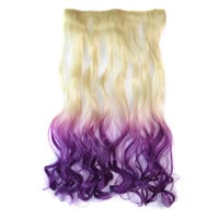 Sexy On Sale Beauty Hot Deal Wigs Beige Gradient Dark Purple Hot Sale Curly Hair Hair Extensions [4923177092]