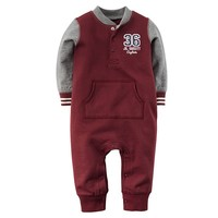 Carter's French Terry Henley Coverall - Baby Boy, Size: