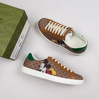 GUCCI G's Mickey white shoes