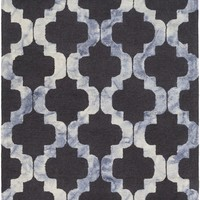Serafina Geometric Area Rug Black