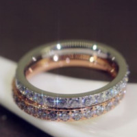 Full diamond ring couple diamond ring