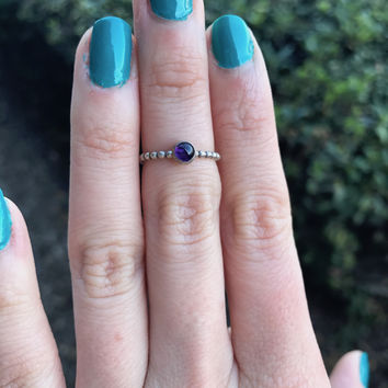 Amethyst Stacking Ring - Ready to Ship - Size 7