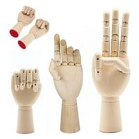 Artist Wooden Hand Movable Fingers Toy Accessories