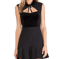 Red Valentino Velvet Bodice Dress in Black