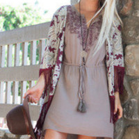 Home-style Makes It Country Style Dress: Mocha
