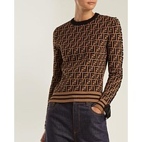 Fendi Women Round Neck Top Sweater Pullover Sweatshirt-2