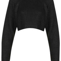 **Outlaw Cropped Waffle by The Ragged Priest - Knitwear  - Clothing