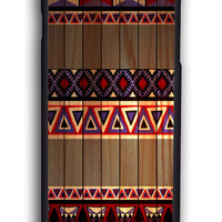 Simple Aztec On Wood for Iphone 6 Hard Cover Plastic