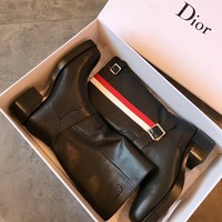 DIOR Diorider Calfskin Leather Ankle Boot