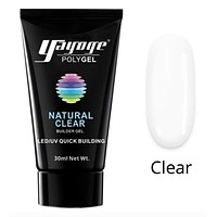 GenZ Poly Nail Gel Builder UV LED Poly Nail Gel Natural Clear 2-4 Day Delivery