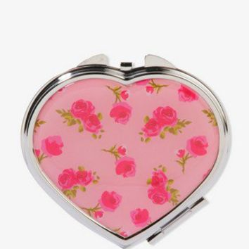 Heart-Shaped Rosebud Mirror Compact | FOREVER 21 - 1040496041