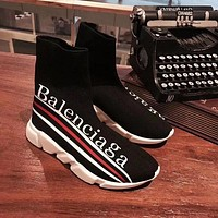 Balenciaga Stylish Women Men Casual Speed Stretch Knit Socks Shoes I