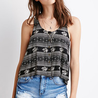 Floral Print Buttoned Tank
