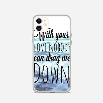 One Direction Drag Me Down Lyric iPhone 11 Case