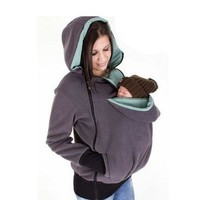 Fashion Style 3 in One Maternity Pregnancy Pregnant Woman Hoodies Carry Baby Sweatshirt Mom Zipper Coat