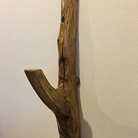 Wooden Branch Coat Hook, Towel, Hat, Hooks Made From Rustic Wood Branches