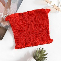Smocked Red Tube Top