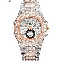 Patek Philippe 2019 new high-end fashion calendar diamond watch #3