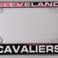 Cleveland Cavaliers Chrome Motorcycle RV License Frame