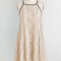 Vintage Inspired Mid-length Sleeveless Shift, Tent This Calls For a Coast Dress