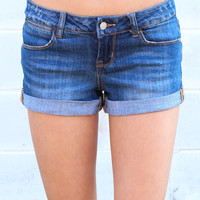 Cuffed Jean Shorts {D. Wash}
