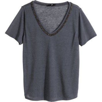 Beaded Top - from H&M