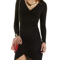 Long Sleeve Bodycon Dress by Charlotte Russe - Black