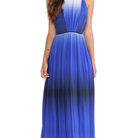MILLY Ombre Print Maxi Dress in Blue