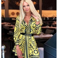 VERSACE Women Long Sleeve Shirt Dress Clothing