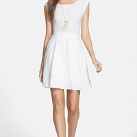 Everly Textured Skater Dress (Juniors)