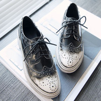 Leather England Style Vintage Unisex Rivet Shoes [4920565188]