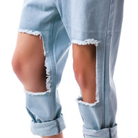 Evil Twin Roughed Up Low Rider Denim Light Blue