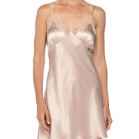 New Body Lace-Trimmed Chemise, Brulee, Size: