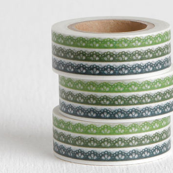 Lace or Crown Pattern Washi Tape, Invitations Planners Daybooks Agendas 15mm