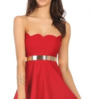 Party dresses > RED DESIRE DRESS