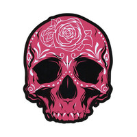 Pink Skull Sticker Pink/Black One Size For Women 22369036901