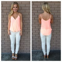 Neon Coral Wrapped Up Tank