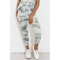 Revolve Around Me Gray Tie Dye Joggers