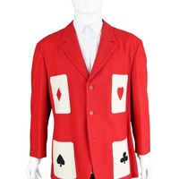 Playing Card Style Red Blazer Jacket, 1990s