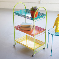 Hole Punch Serving Cart