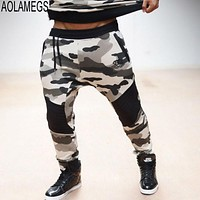 Aolamegs Men Casual Sporting Pants Fashion Camouflage Sweatpants Slim Fit Mens Jogger Trousers Bodybuilding Fitness Sportswear