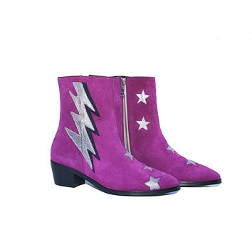 THE ORIGINAL BOLT FUSHIA SUEDE