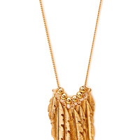 Down-To-Earth Feather Charm Necklace