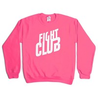 Fight Club Sweater- Pink