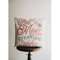 Mothers day gift | Pillow Cover | Floral | First Mothers Day | Home Decor | Throw Pillow | 18 x 18