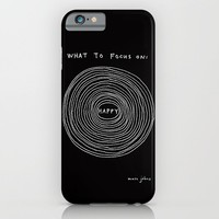 What to focus on - Happy (on black) iPhone & iPod Case by Marc Johns