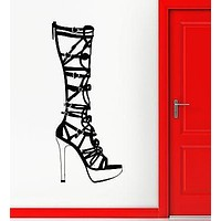 Wall Sticker Vinyl Decal Women's Fashion Style Boots for Girls Shop Unique Gift (ig1853)