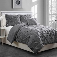Anabelle Pinch Pleat 3-pc. Comforter Set - Twin