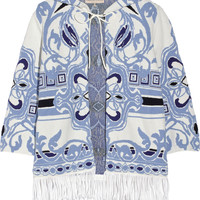 Emilio Pucci - Fringed cotton-blend jacquard coverup