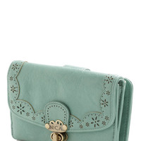 ModCloth Folk Art Make Persimmon of Yourself Wallet in Mint